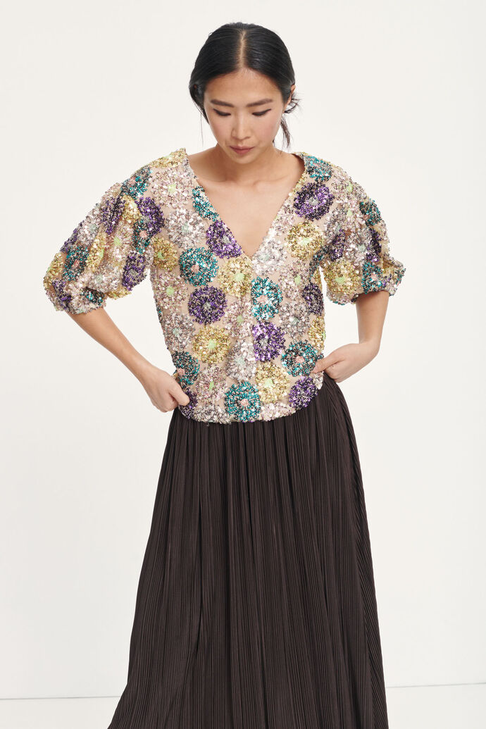 Henny blouse 12780, MULTI GLITTER