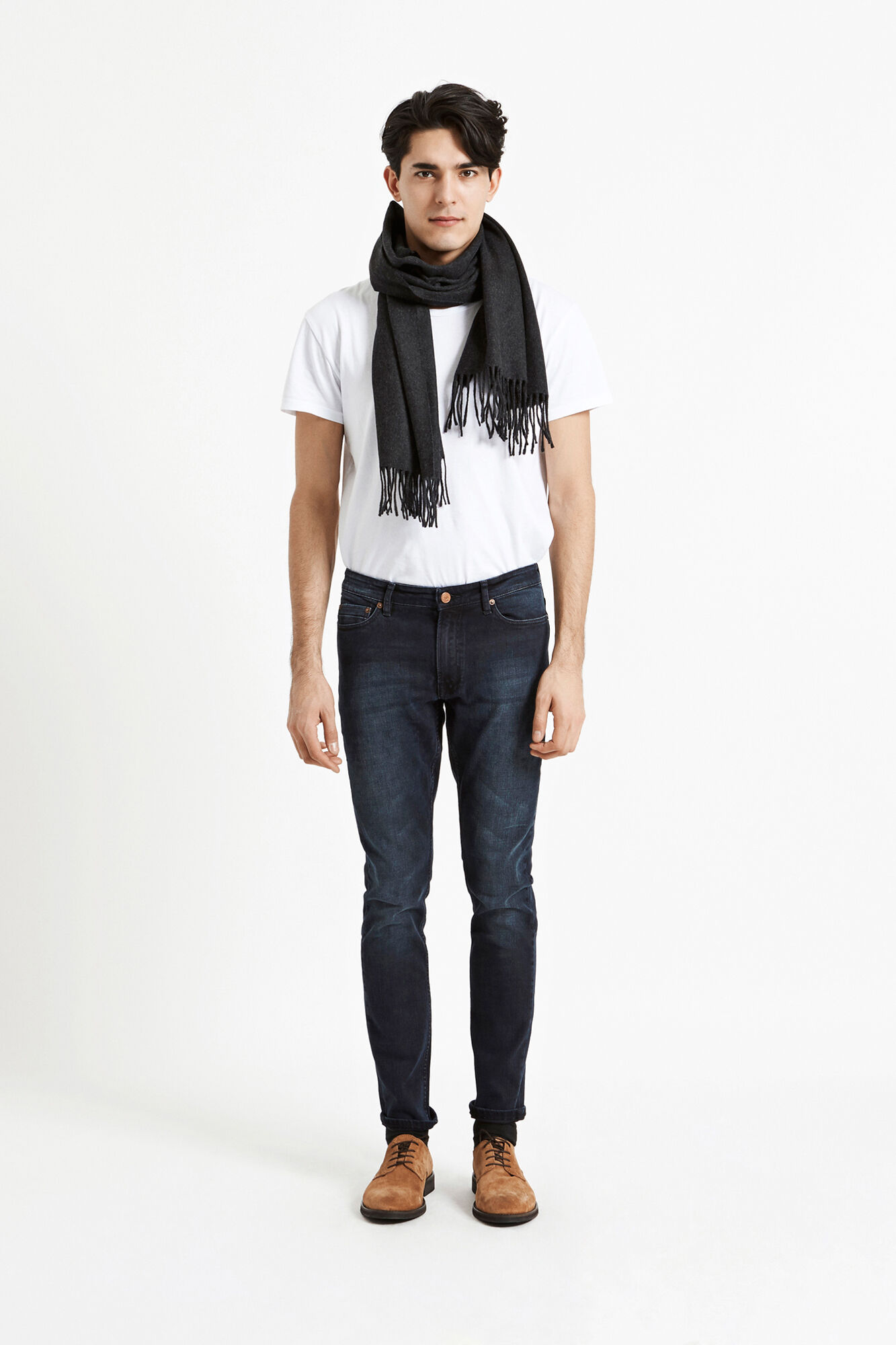 Efin scarf 2862, DARK GREY MEL.
