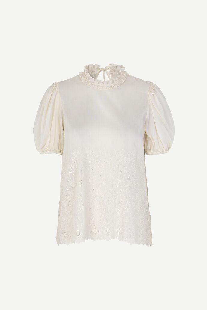 Melinda ss blouse 12689, WARM WHITE