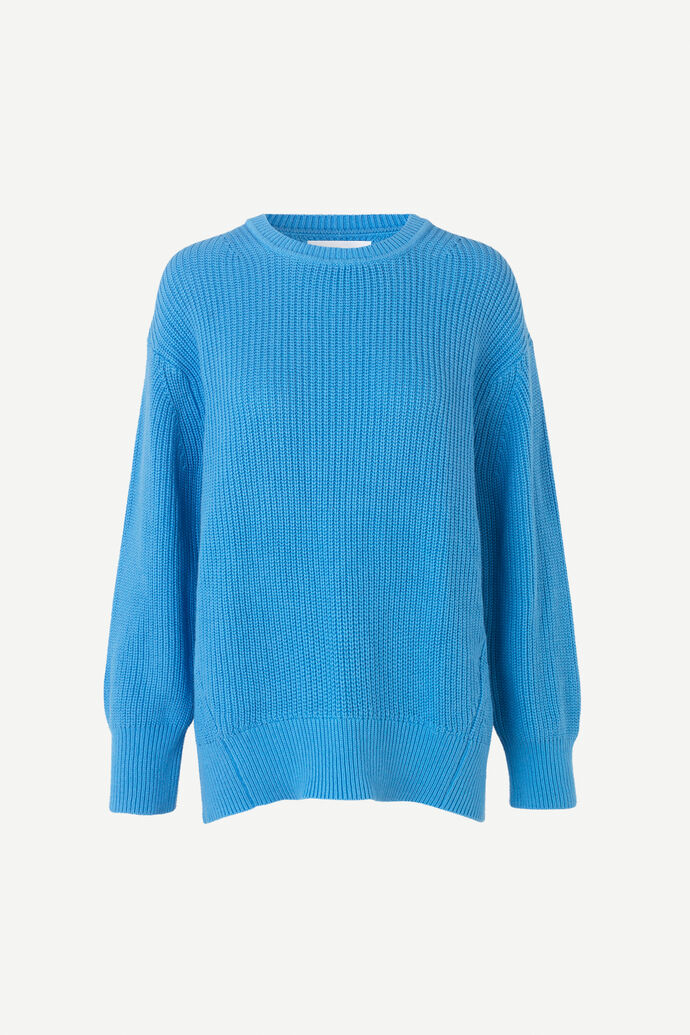 Haim crew neck 10986, AZURE BLUE