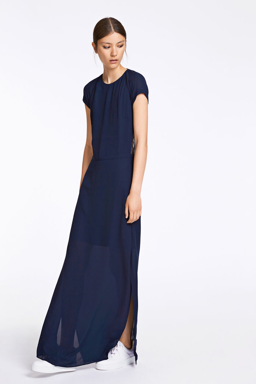 Isar long dress 3973, DARK SAPPHIRE