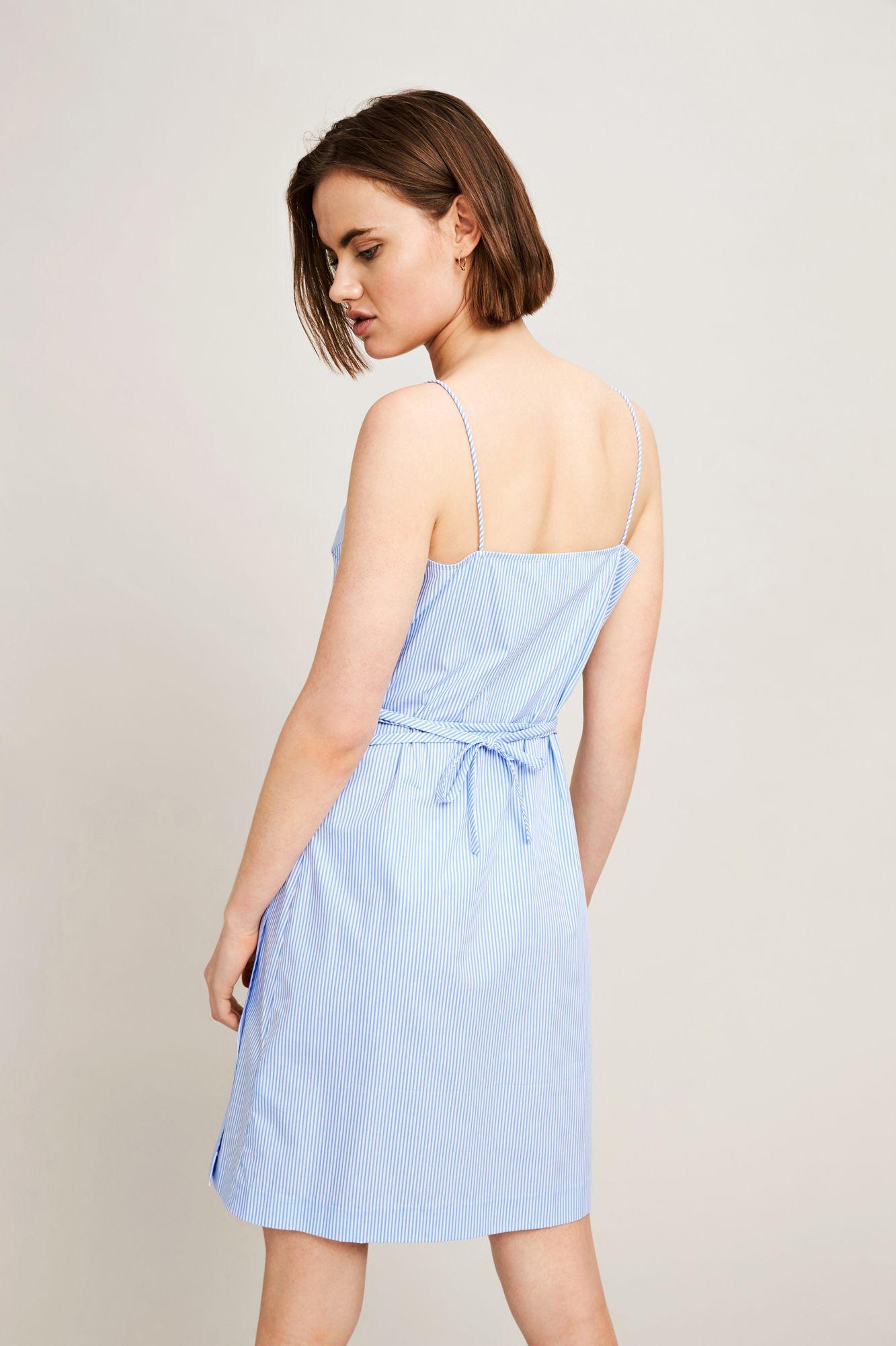 Alanis dress 9945, BLUE THIN STRIPE