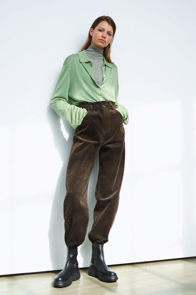 Simonie trousers 13000, BLACK OLIVE