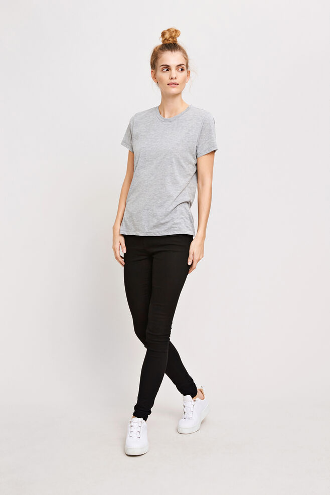 Solly tee solid 205, GREY MEL.