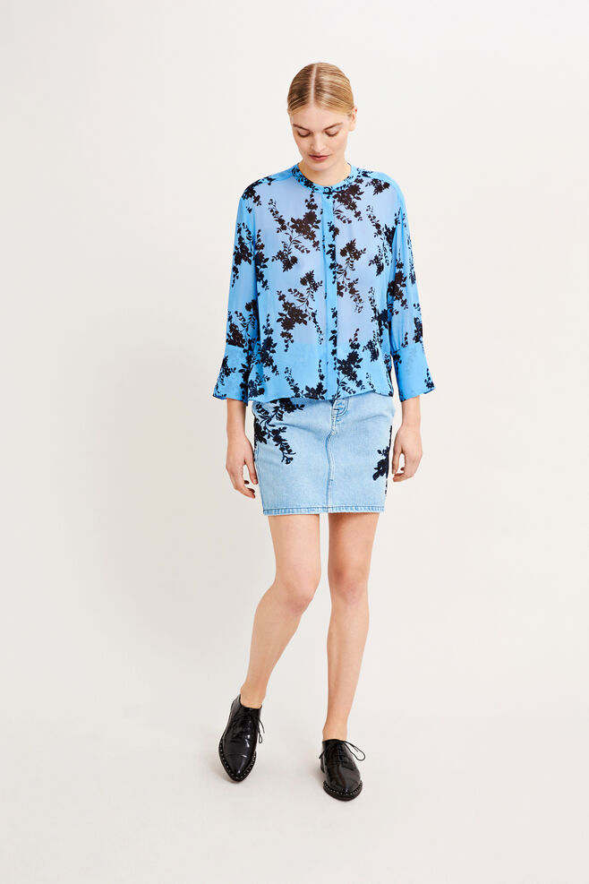 Elm shirt aop 9695, BLUE BLOOM