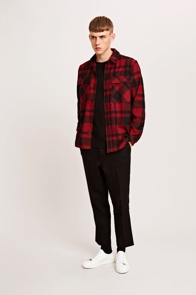 Waltones overshirt 7168, HIGH RISK RED