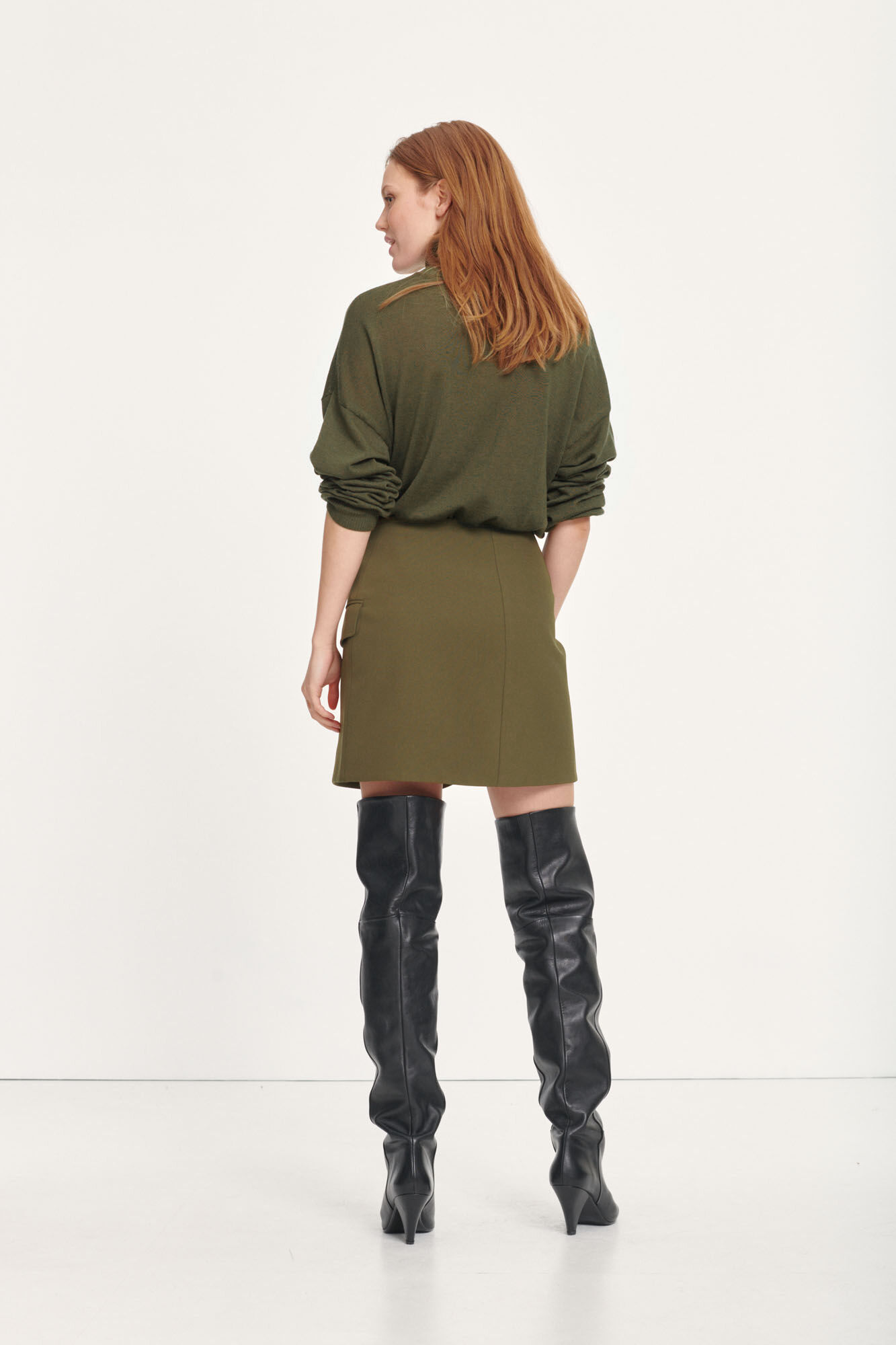 Citrine skirt 10654, DARK OLIVE