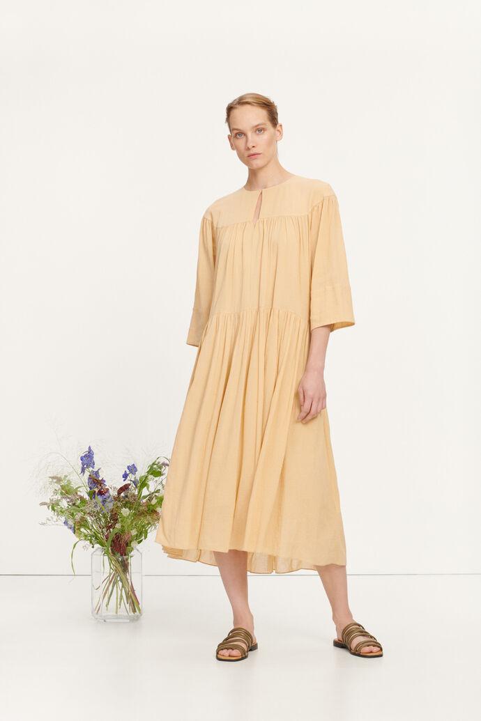 Karol long dress 11463, CROISSANT