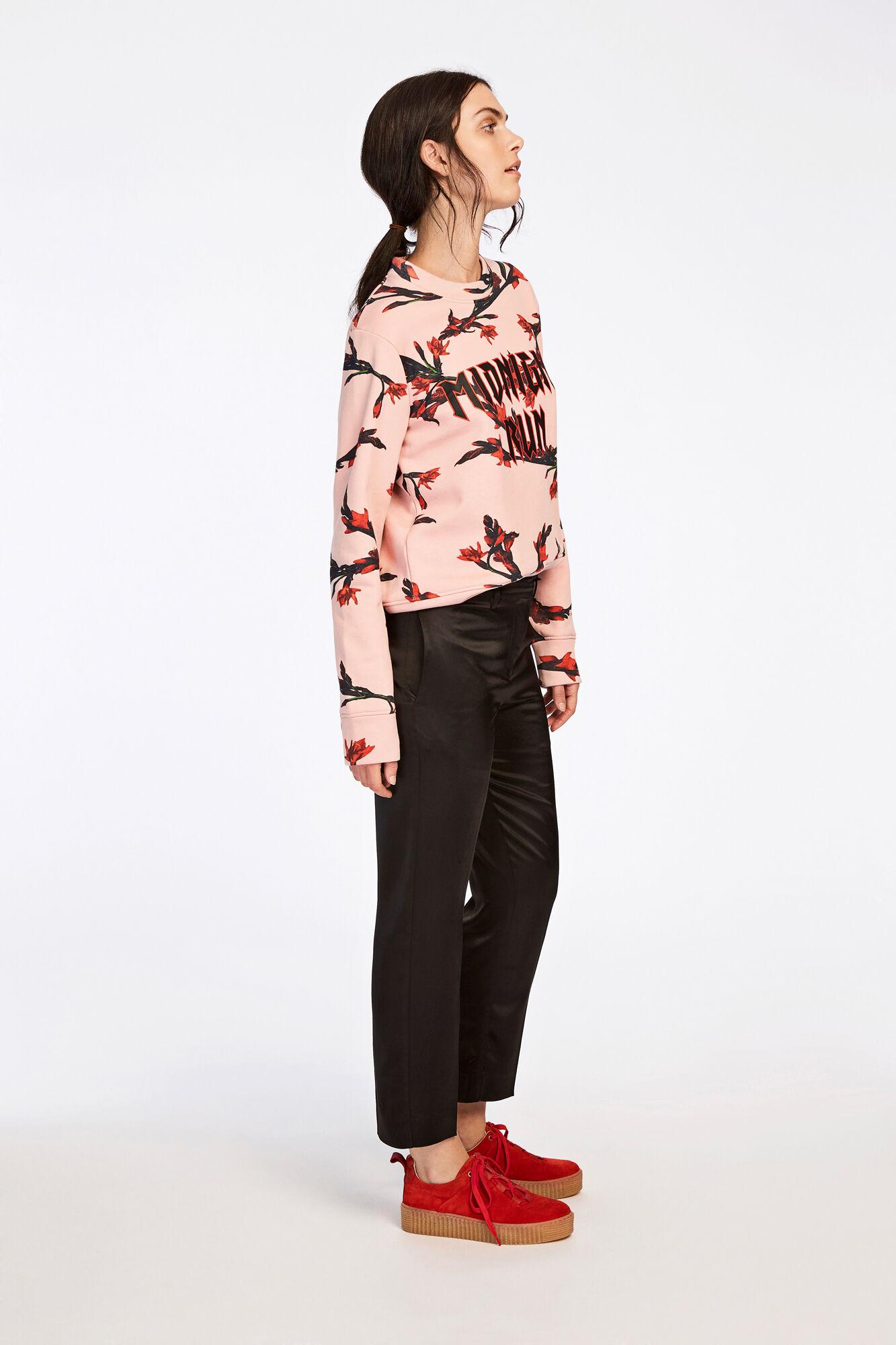 Louise crop pants 8282, BLACK