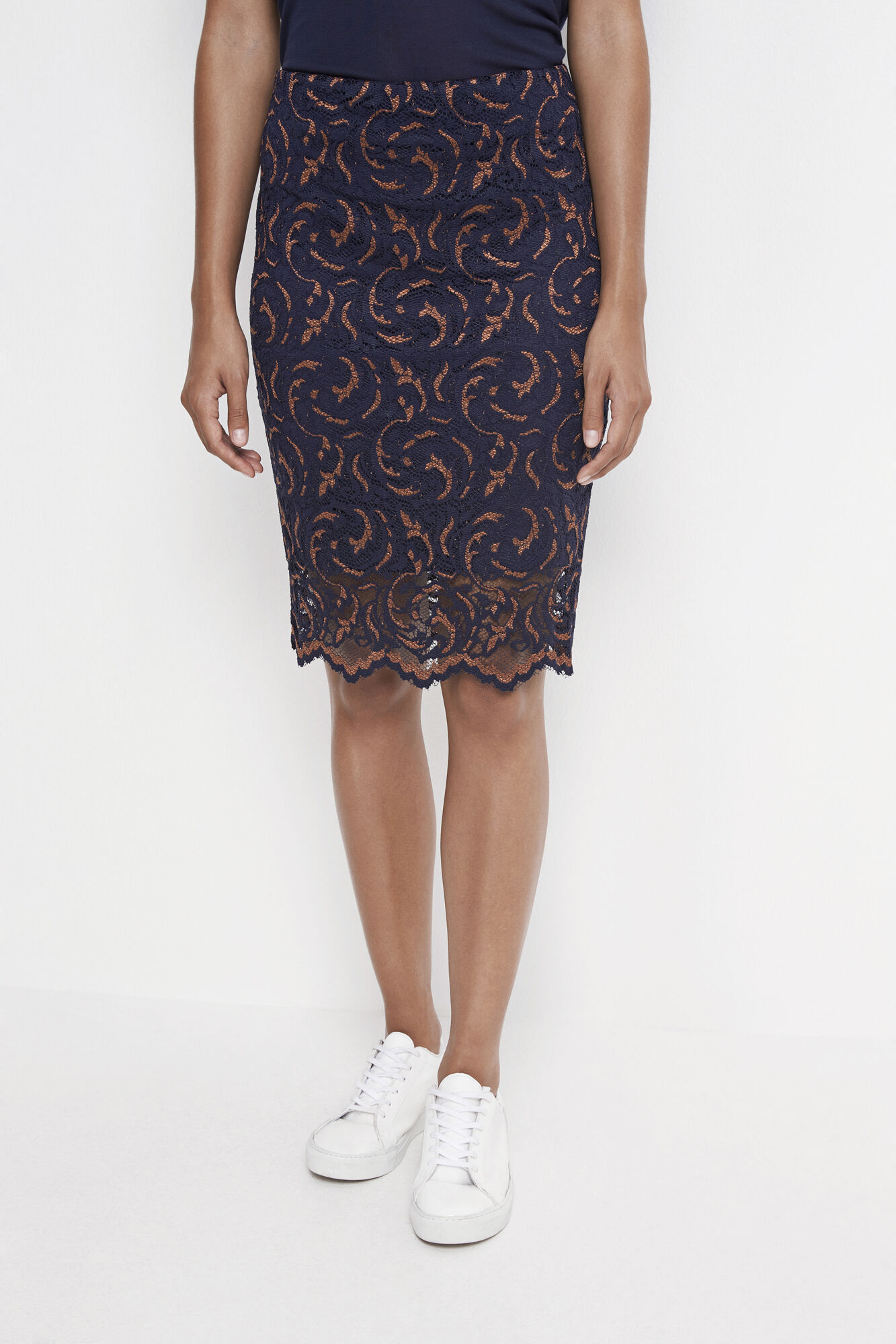 Alia skirt 6708, COPPER BROWN