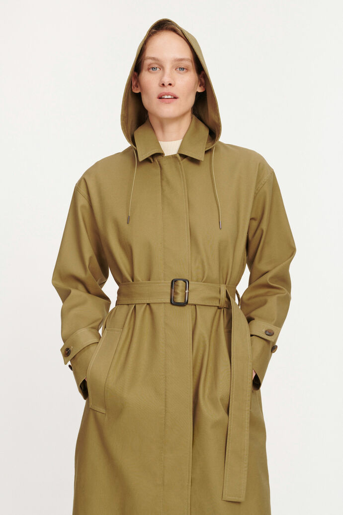 Delila coat 9732, GREEN KHAKI