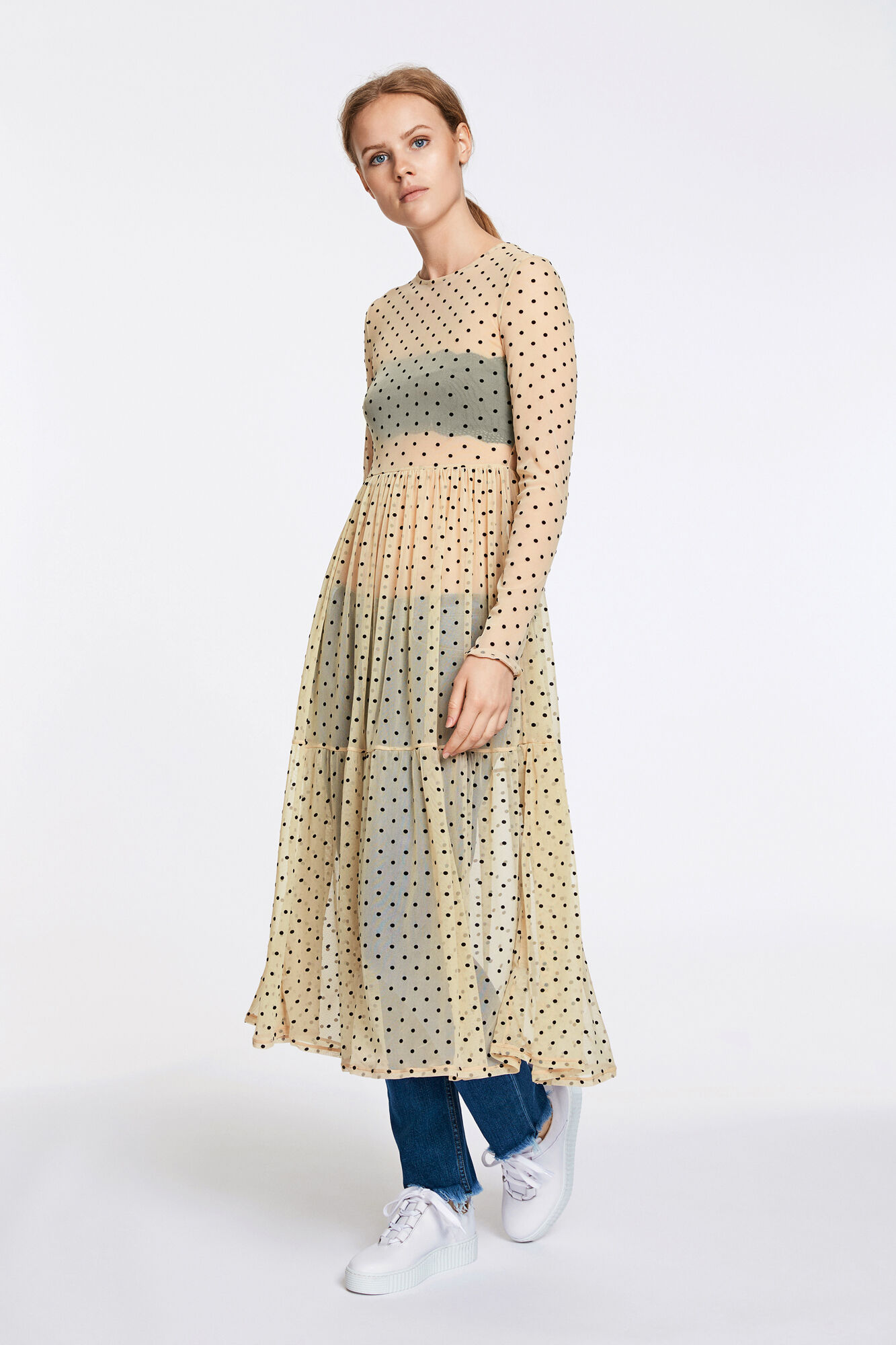 Spot ls dress 9873, WHITECAP DOT