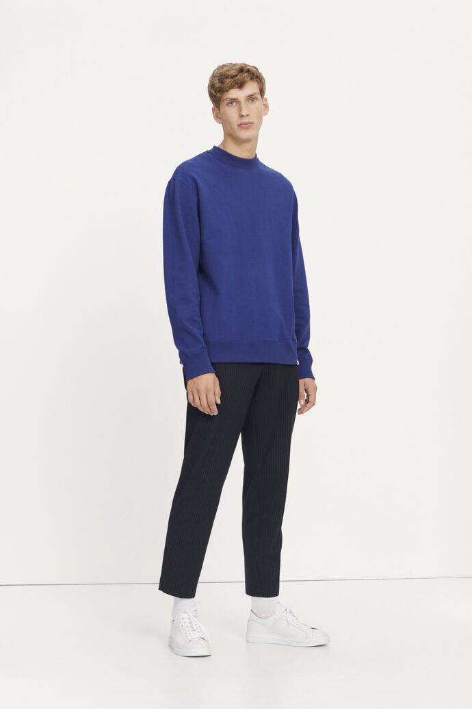 Toscan crew neck 11414, BLUE DEPTHS