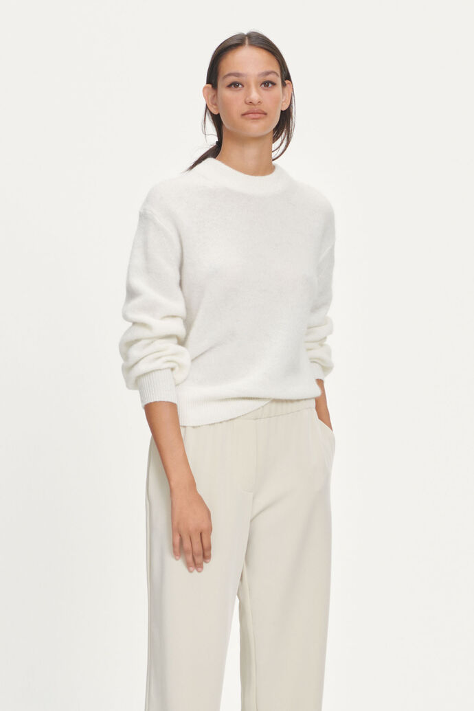 Jaci crew neck 12757, WHISPER WHITE MEL.