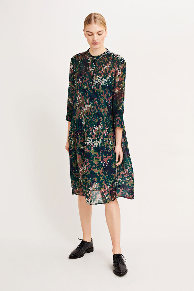 Elm shirt dress aop 9695, PLUM DOTCAMO