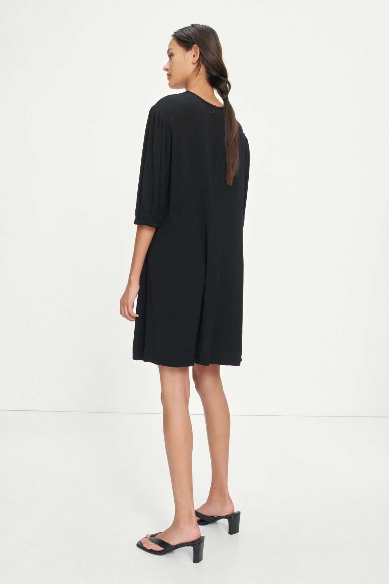 Aram ss dress 12949, BLACK