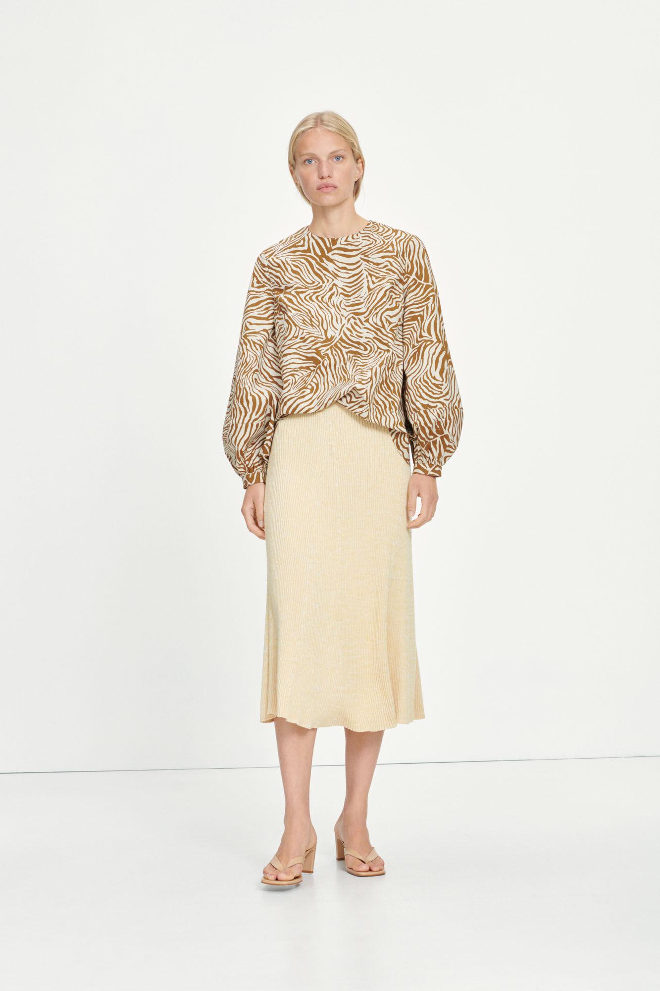 Bonnie skirt 12933, EGGNOG MEL.