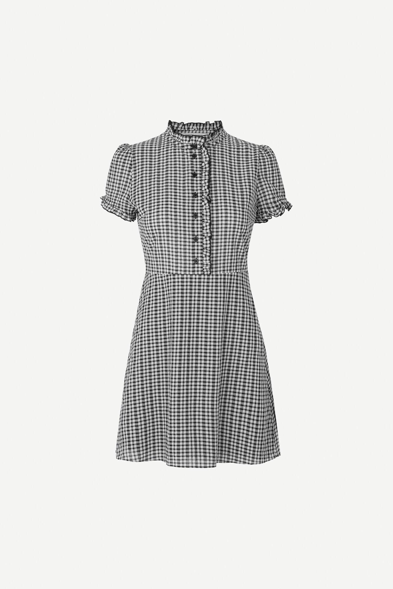 Zarani short dress 12732, BLACK CHECK