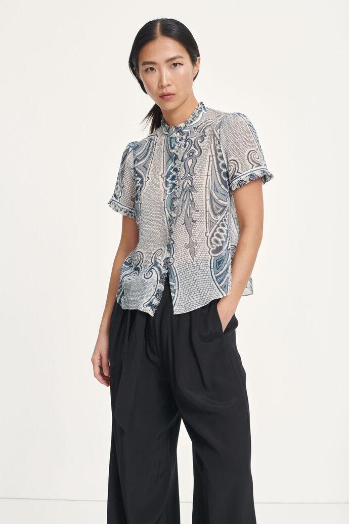 Zarani blouse aop 12888, PORCELAIN