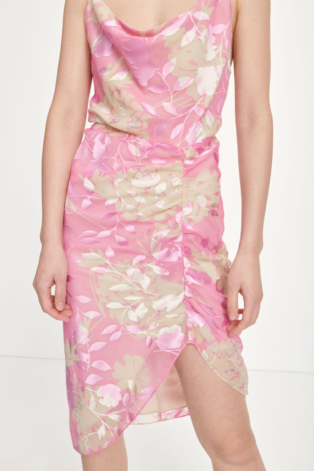 Dapples dress aop 14013, PINK KIRIGAMI