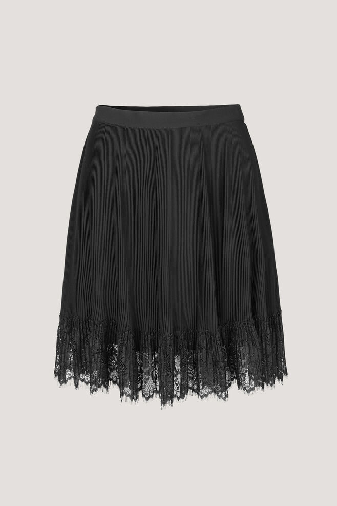 Lacy skirt 6621, BLACK