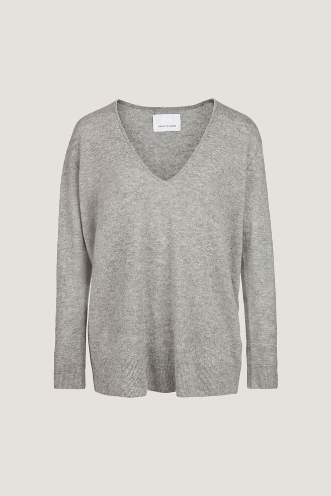 Boston v-neck 6304, GREY MEL.