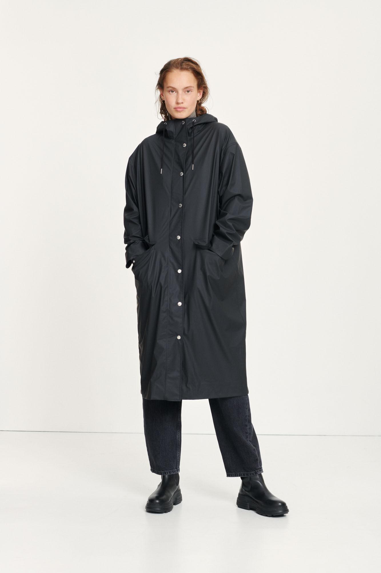Stala long jacket 7357, BLACK