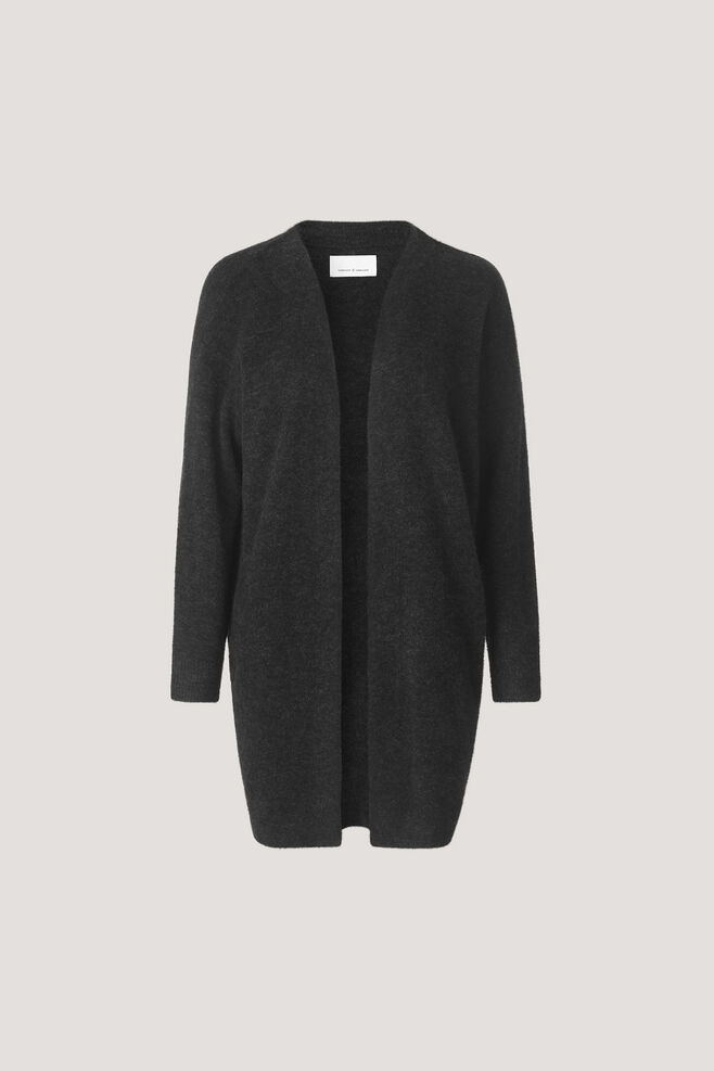 Nor cardigan 7355, BLACK MEL.