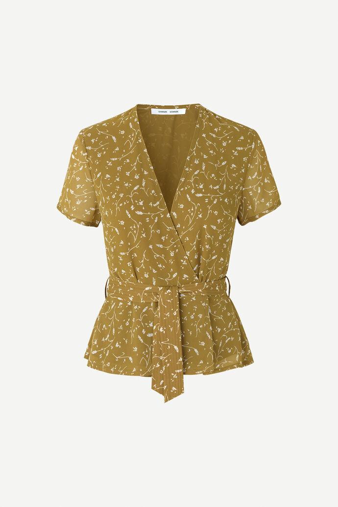 Klea ss blouse aop 6621, FEUILLES KHAKI