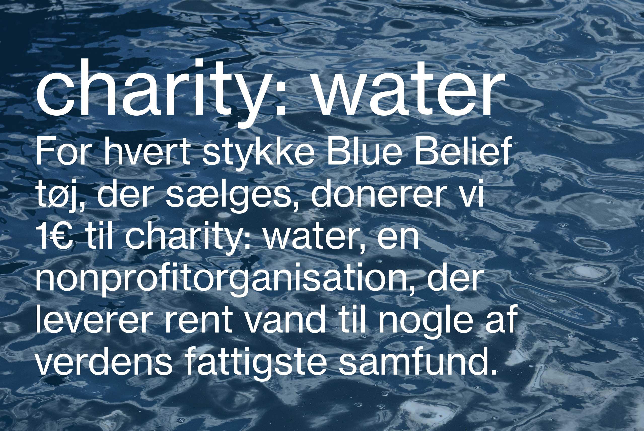 Charity: water Modetøj til kvinder og Herremode