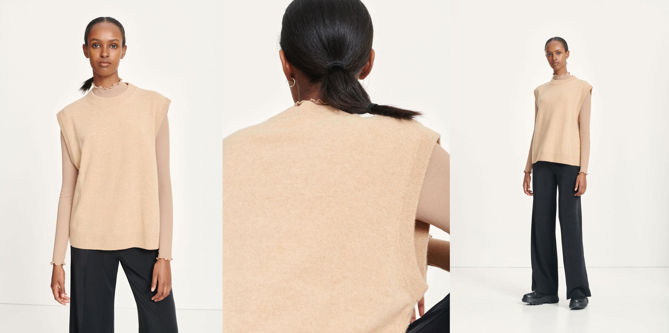 Nola vest khaki Women's fashion