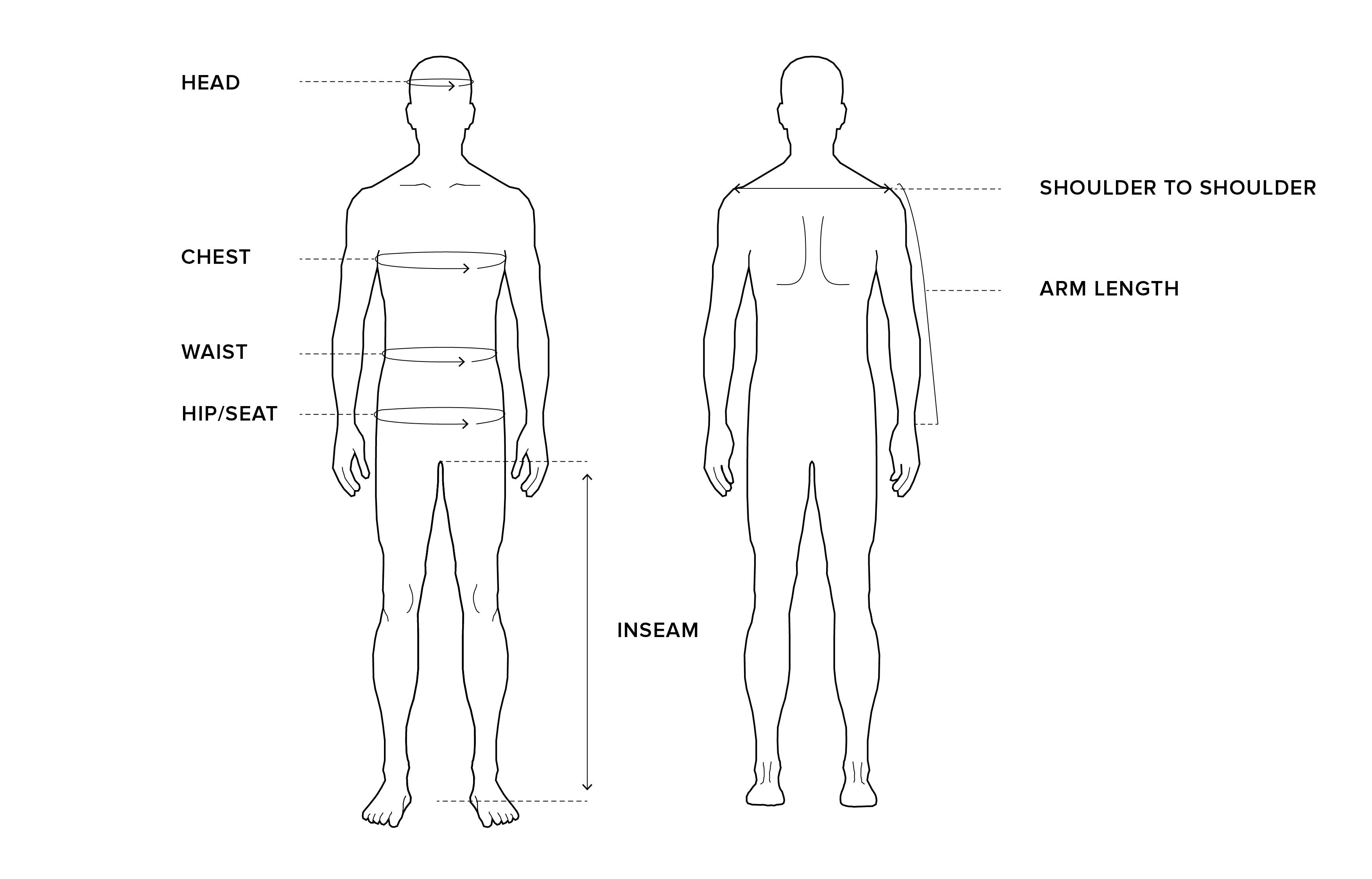 Men 39 s size guide sams e sams e for Men s shirt sizes explained