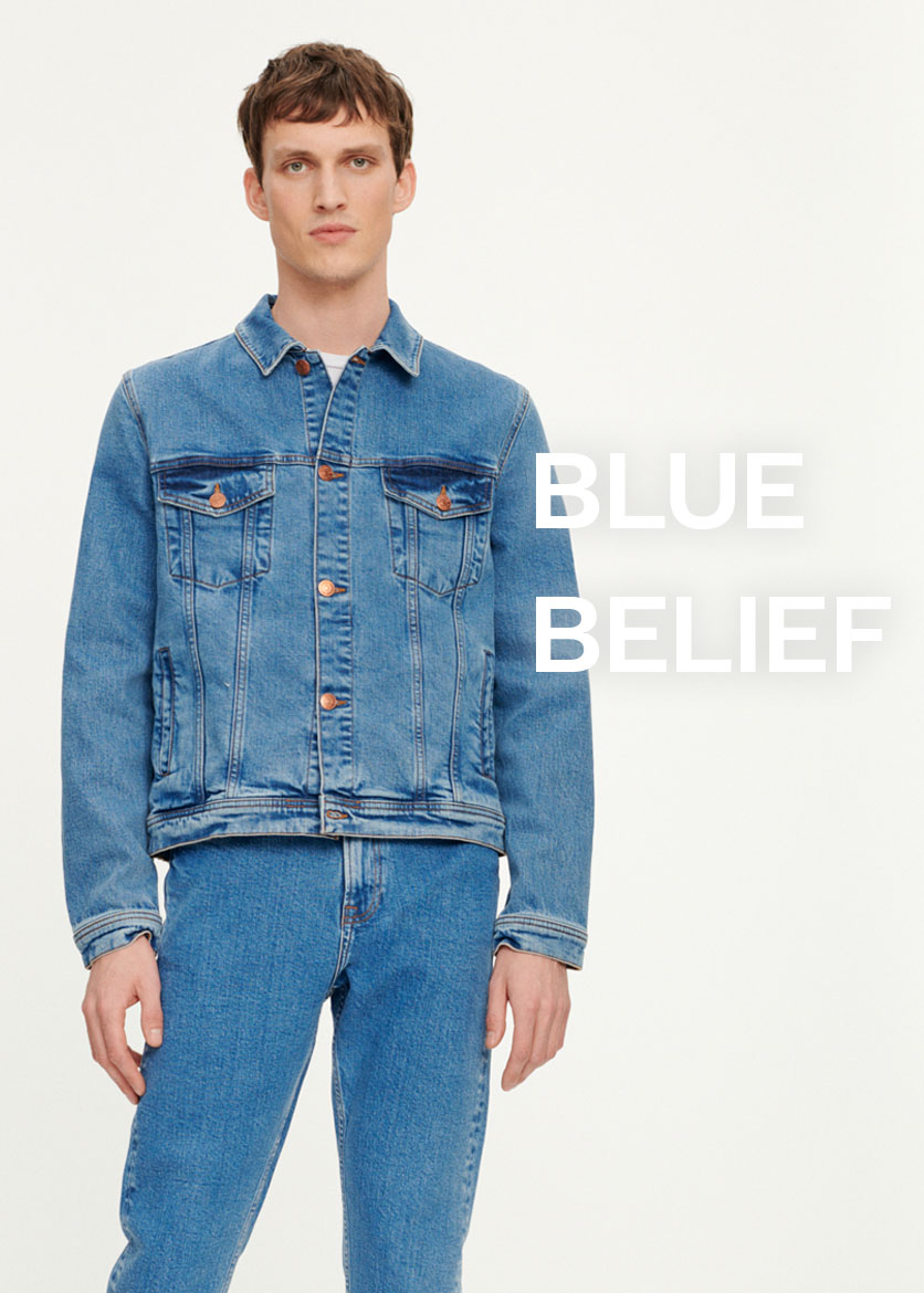 Blue Belief Men's Fashion