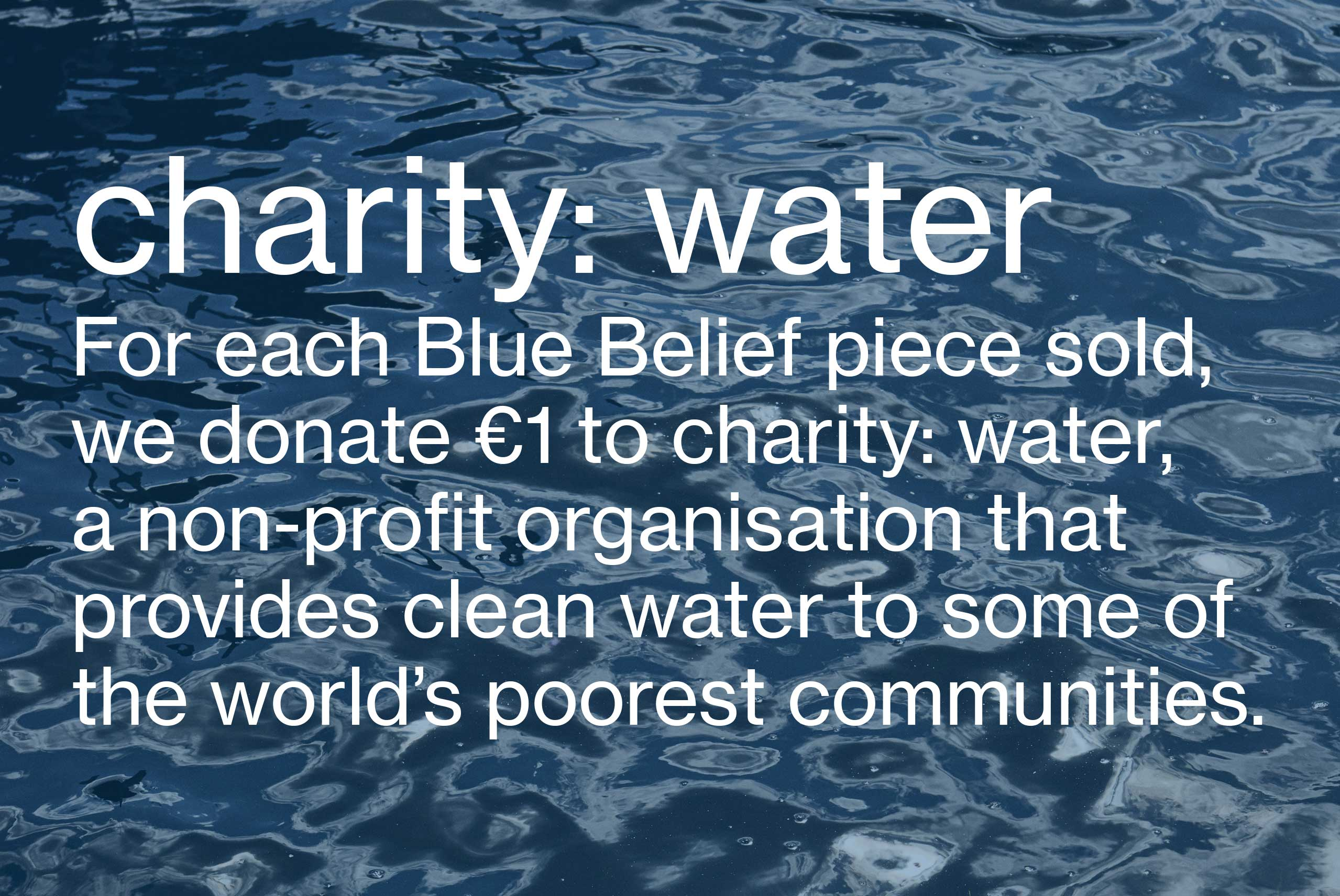 Charity: water Women's fashion and Men's Fashion