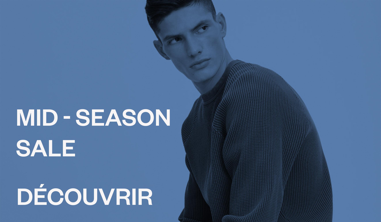 Les soldes di mi-saison mode masculine
