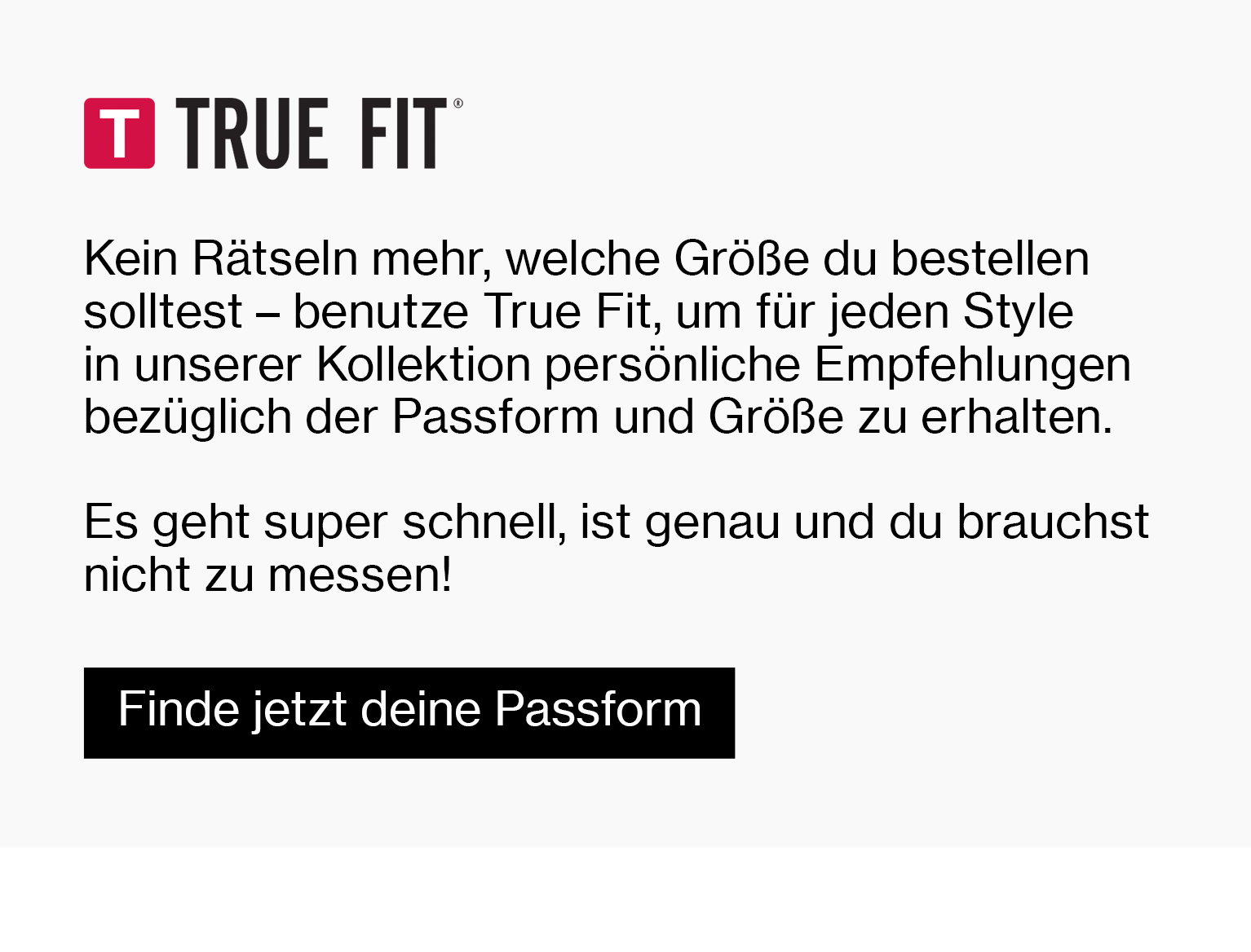 True Fit mode online M
