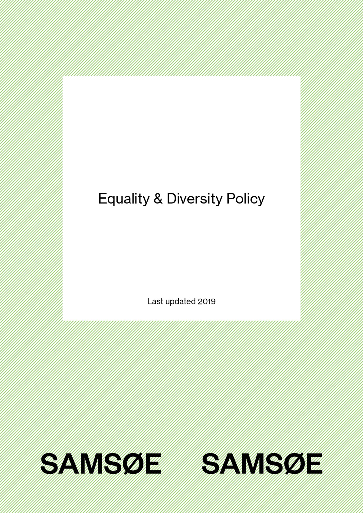 Equality and Diversity Policy 1