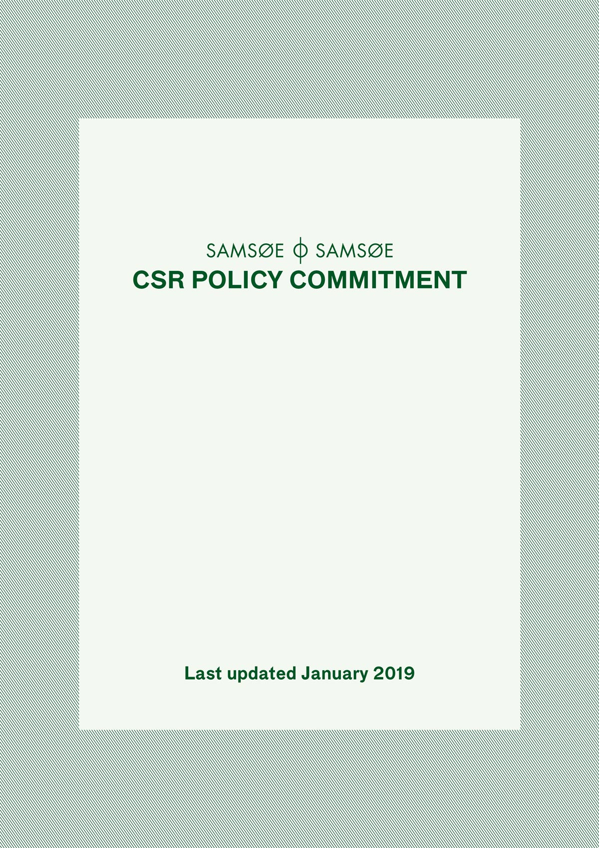 Policy Commitment 1