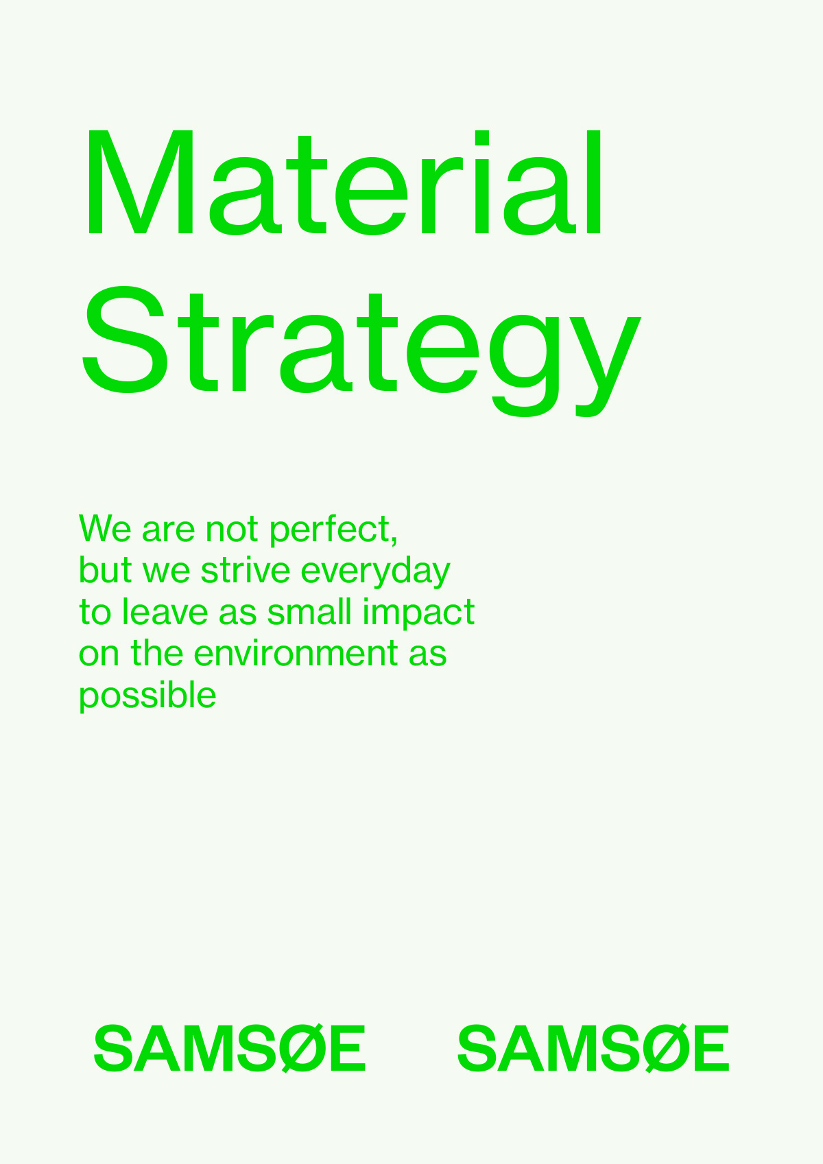 Material Strategy 1