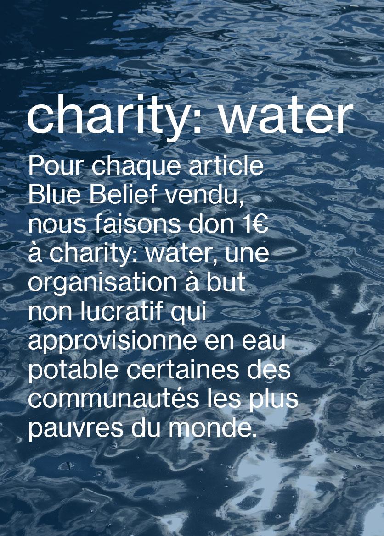 Charity: water Mode féminine et mode masculine M