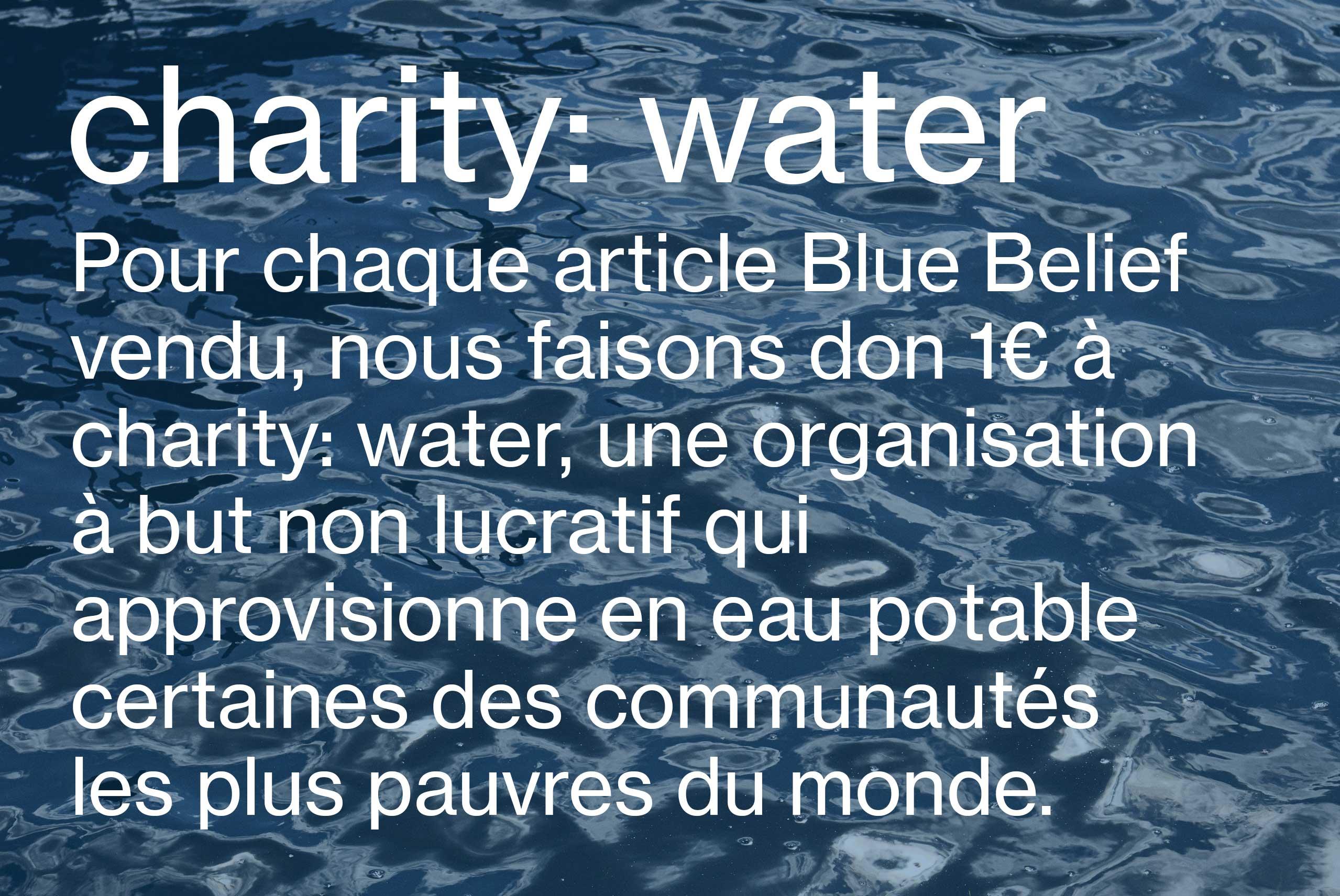 Charity: water Mode féminine et mode masculine