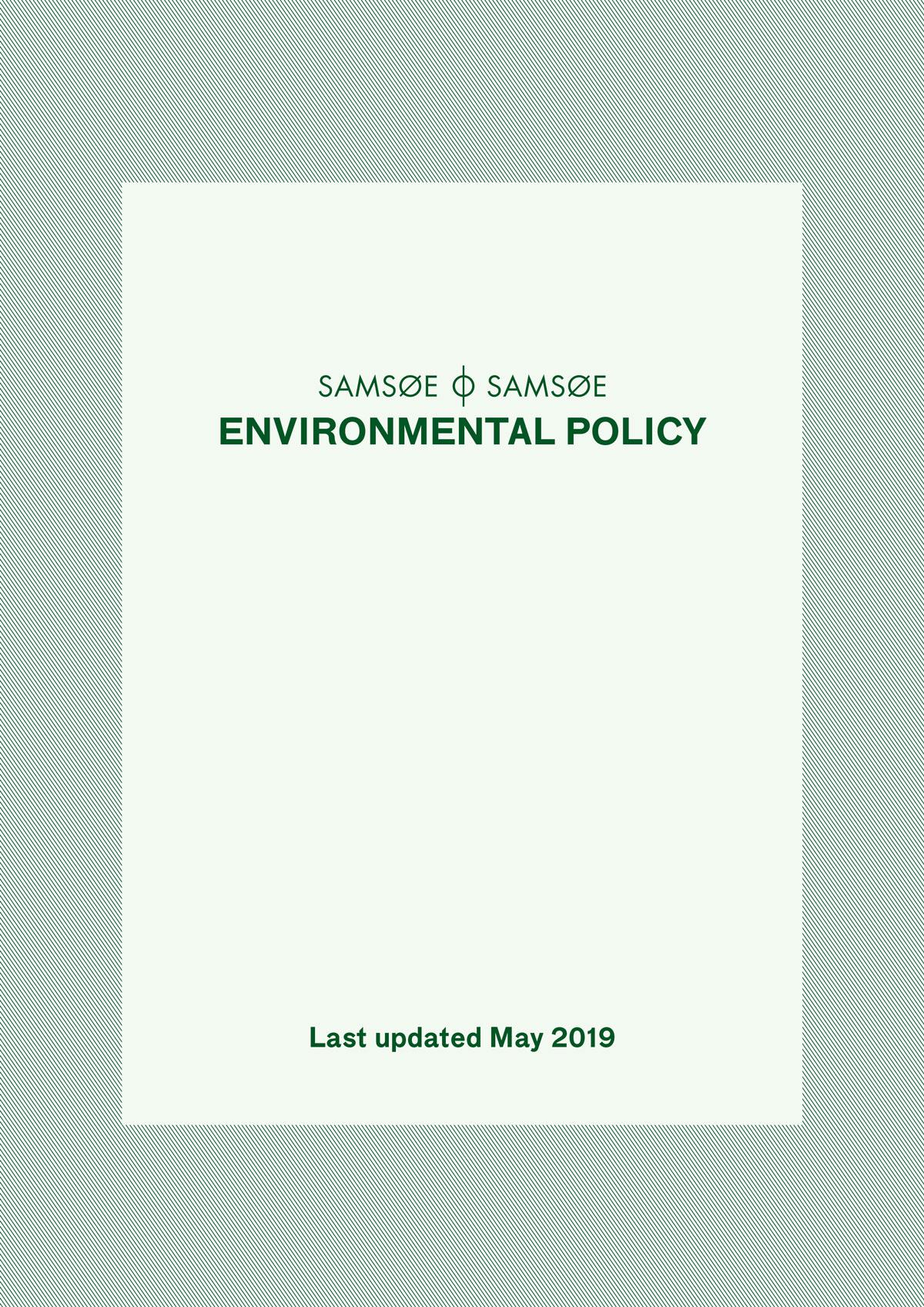 Environmental Policy 1