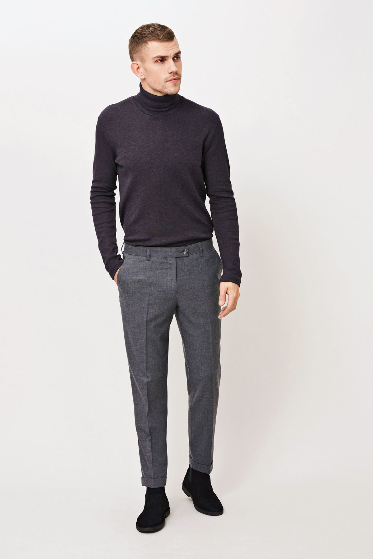 Laurent pants fold up